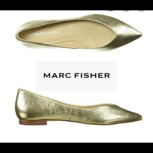 Gold Marc fisher flats